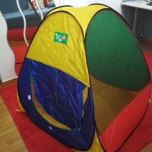 Αναδιπλούμενη παιδική σκηνή pop up με τέσσερα χρώματα σε άριστη κατάσταση