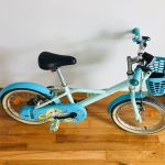 Γαλάζιο ποδήλατο παιδικό 16'' για κορίτσι