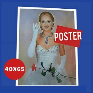 Αγγελιες Αλικη Βουγιουκλακη Εβιτα Evita αυθεντικη original θεατρικη αφισα ποστερ poster σε γυαλιστερο χαρτονι