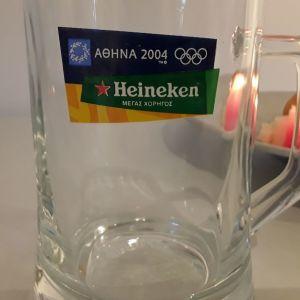 Συλλεκτικό ποτήρι μπύρας, Αθήνα 2004, Heineken.