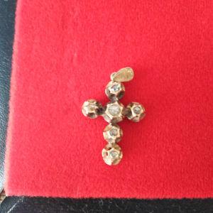 διαμαντια επάνω σε χρυσή βάση 18 καράτια