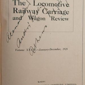 ΤΡΕΝΑ - The Locomotive Railway Carriage and Wagon Review (1928) ΠΕΡΙΟΔΙΚΟ στην Αγγλική Γλώσσα