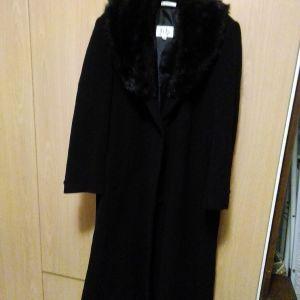 Παλτό μεγάλο μέγεθος μακρύ με γούνα που αφαιρείται ελάχιστα χρησιμοποιημένο πολύ ζεστό