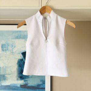 ZARA λευκό αμάνικο μπλουζάκι ζιβάγκο