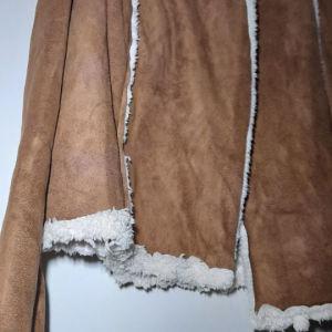 PARIS  uniκa δερμά καφέ κάστορ  κάπα jakcet..SM Από μέσα προβατάκια γούνα