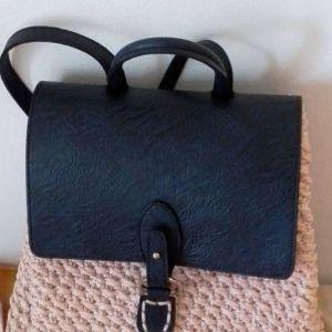 πλεκτή τσάντα πλάτης