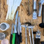 Επαγγελματικός Εξοπλισμός Σκεύη, Κουτάλια, Λαβίδες, Σπάτουλες, Μαχαίρια σε άριστη κατάσταση