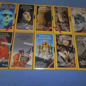 NATIONAL GEOPRAPHIC 10 VHS Z7