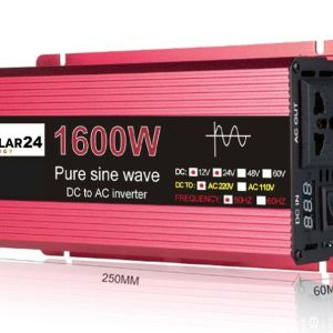 Inverters καθαρου ημιτονου απο 800W/1600W εως 1500W/3000W σε 12V/220V και σε 24V/220V