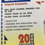 Συρτάρι αποθήκευσης 20 CD-DVD
