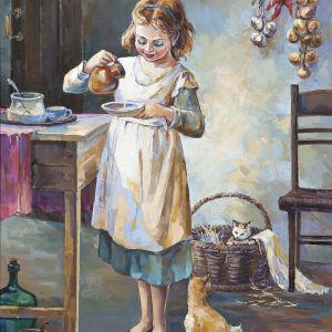 Γνήσιος πίνακας ζωγραφικής σε καμβά