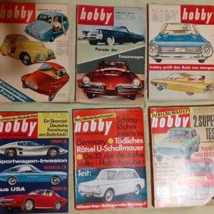 VINTAGE 6 περιοδικα Hobby (γερμανικα) 1954,1958,1963   Technik, επιστημες