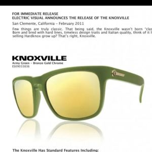 Electric Knoxville army green sunglasses