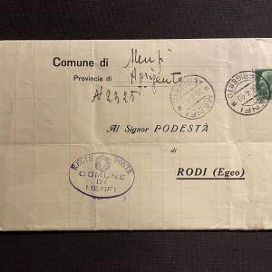 Ιταλικό έγγραφο Ρόδου, 1940
