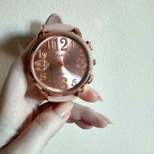 Ρολόι γυναικείο ροζ nude