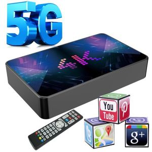 TV BOX  SUPER Hybrid Linux/Android 9.1 WITH 3 PORTAL URL , ME KODI - Youtube - Movies Linux /Android Internet Tv Set Top Box DUAL Wifi