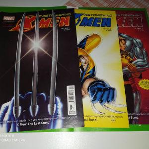 astonishing x-men τεύχη 1-3 κόμικς