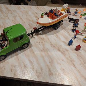 playmobil-αυτοκίνητο με σκάφος