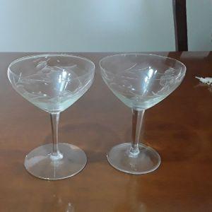 κρυσταλινα ποτήρια σαμπάνιας