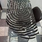 Γραφείο με σχέδιο αποτύπωμα
