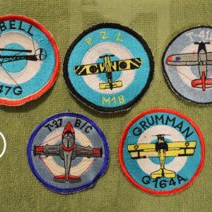 Πέντε (5) σπάνια Εμβλήματα της Ελληνικής Πολεμικής Αεροπορίας