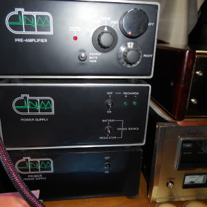 PREAMPLIFIER   DNM  SERIES 1 - 2  with  POWER  SUPPLY  and  PRIMUS  POWER  SUPPLY