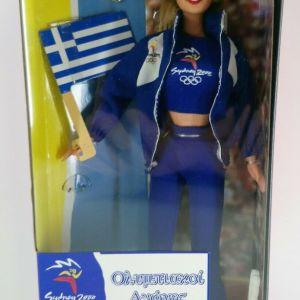 1999 MATTEL BARBIE DOLL SYDNEY 2000 OLYMPIC GAMES GREEK FLAG NRFB GREECE NEW
