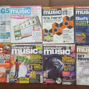 """Περιοδικά """"COMPUTER MUSIC"""" + CD/DVD (UK edition) 8 τεύχη"""