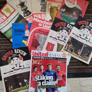 Manchester United 11 official programmes 1969-2007