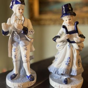 2 Vintage Πορσελάνη Αγαλματίδια