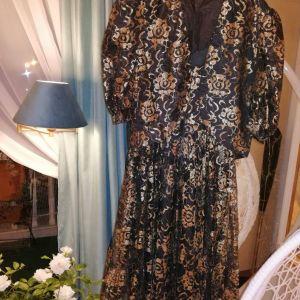 Σετ γυναικείο φόρεμα +σακάκι. 48 νουμερο