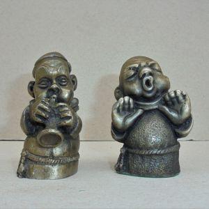 """Μοναχοί αγαλματάκια """"PELTRO""""."""