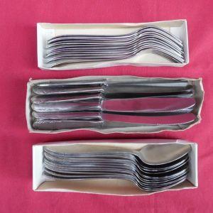 36 Τεμάχια ανοξείδωτα μαχαίρια πιρούνια και κουτάλια της ελληνικής εταιρίας PITSOS.