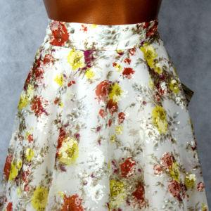 Vintage χειροποίητη φούστα ,ύφασμα 1970s