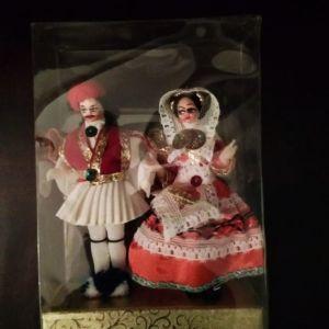 Vintage Κούκλες Φιγούρες με Παραδοσιακές Ελληνικές Φορεσιές