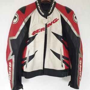 BERING Motorcycle Leather Jacket XL Δερματινο Μπουφαν μηχανής