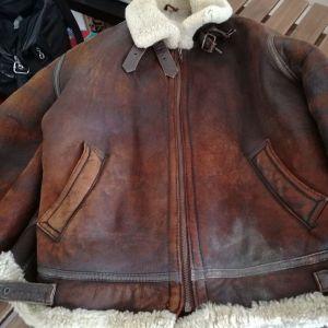 Δερμάτινο jacket με γούνα, No 50
