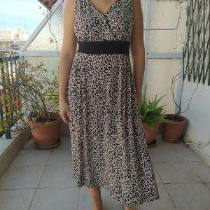 Υπέροχης ποιότητας και υφανσης vintage φόρεμα M-L