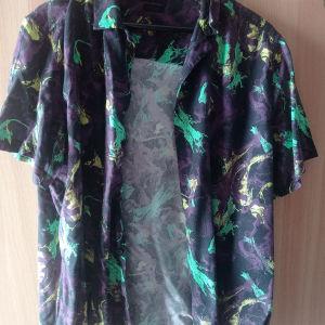 ανδρικό floral πουκάμισο No L