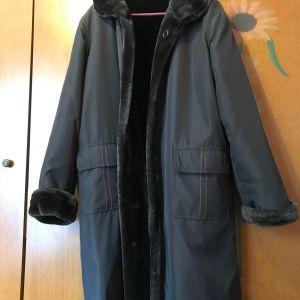 Αδιάβροχο δυο όψεων παλτό σχεδόν καινουριο