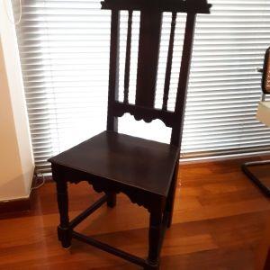 καρέκλα, χειροποίητη, αντίγραφο παραδοσιακής καρέκλας του Μουσείου Μπενάκη