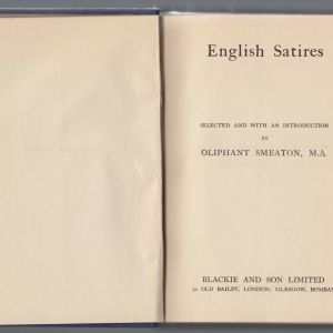 english satires the casket library 1924 edition