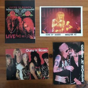Vintage καρτ ποστάλ Guns N Roses