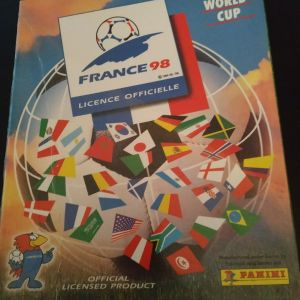 PANINI ΜΟΥΝΙΑΛ FRANCE 1998 official album χωρίς αυτοκόλλητα