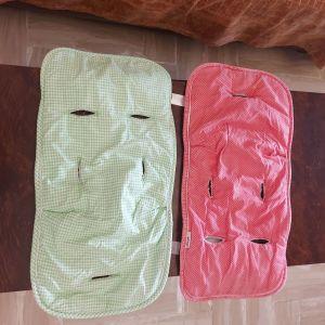 Βρεφικά βαμβακερά  καλυμματακια για καρότσι