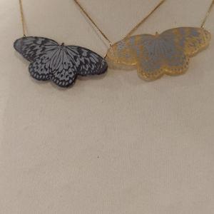 κολιέ με πεταλούδα από plexiglass