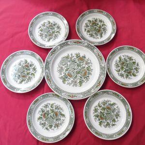 Εγγλέζικα  πορσελάνινα πιάτα RIDGWAY της δεκαετίας του '60.