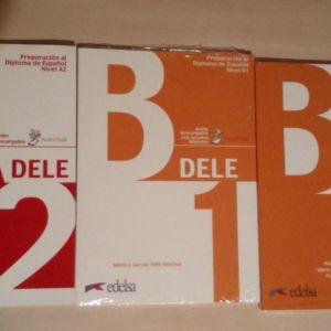 Πώληση για βιβλία των ισπανικών εξετάσεων των επιπέδων Α2, Β1 ,Β2 και λύσεις