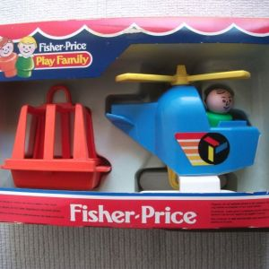 HELICOPTER PLAY FAMILY 2449-FISHER PRISE 1986