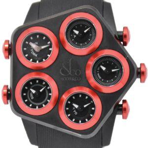 JACOB&CO G5 Global JC-GL1-26 5 time zone black Dial Quartz Men's Watch